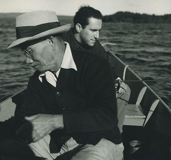 Nat as a young man with Mr. Konoshima