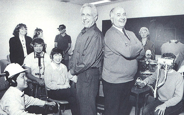 Group photo: Sensory Communication Group, from cover page of RLE Currents publication (1993). (Photo by John Cook)