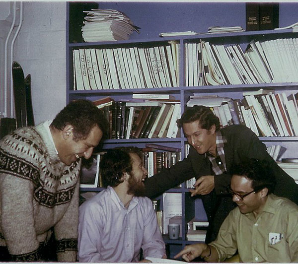 Nat Durlach, Steve Colburn, Franz Bilsen and Julius Goldstein at MIT circa 1969